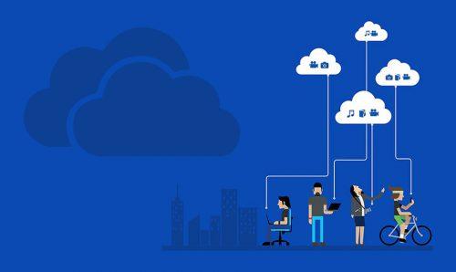 OneDrive - cloudové řešení od společnosti Microsoft.